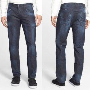 Hudson Blake Slim Straight Button Fly Jeans 38